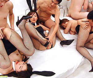 Group sex with japanese bunny babes - part 4832