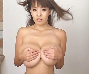 Busty asian hitomi tanaka natural huge tits in red bikini - part 4215