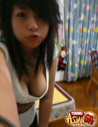 Asian girlfriends posing for cell phone pics - part 387