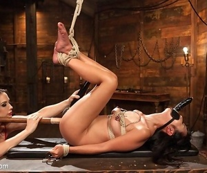 Marica hase petite is rope bound and straponed by busty lezdom c - part 3245
