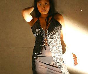 Busty japanese yuki in a black dress - part 4447