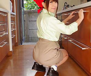 Wearing no underwear ass out housekeeper - part 3994