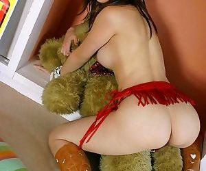 Japanese cowgirl hikari shows her tits and hot ass - part 1711