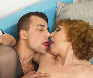Naughty mature lady having fun with her toy boy - part 2049
