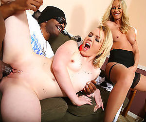 A hung black guy fucks a milf and her daughter at the same time - part 2110
