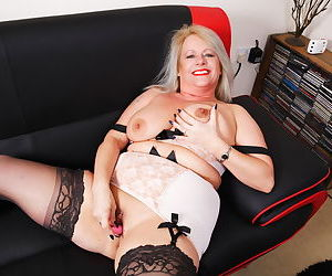 British chubby housewife playing alone - part 2050
