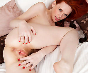 Mystique satisfies her cream filled hairy pussy with a vibrator - part 3246