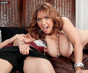 Busty marisa carlo sucking a big cock - part 941