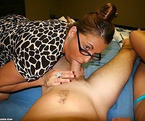 Mother helps her daughter in cock sucking action - part 987