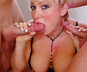 Milan a busty mature woman getting pounded by 2 young cocks - part 1594