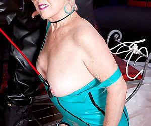 Kinky grandma jewel fucks in nylons and latex - part 2644