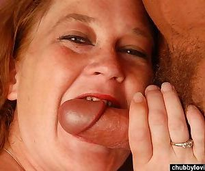 Chubby big tits redhead sucking and fucking - part 44