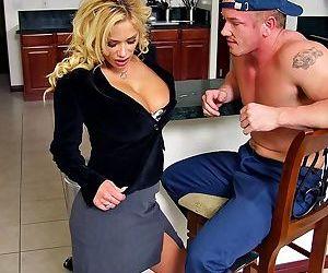 Hot housewife shyla stylez fucking the gardener in her kitchen - part 20