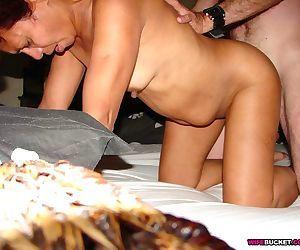 Wife sucking three cocks in swinger orgy - part 19