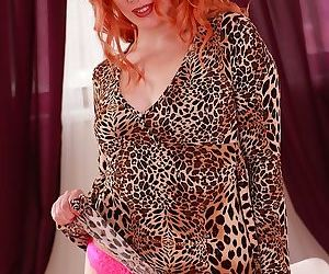 Mature redhead genny red spreads her trimmed pussy - part 15