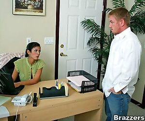 Busty medical secretary shy love taking the patient cock like a champ - part 2