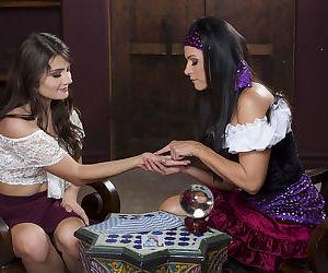 Fuckable fortuneteller brunette fucking a seductive teen brunette - part 1322