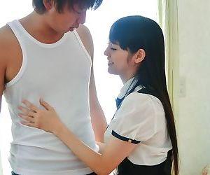 Asian schoolgirl rei mizuna in a threesome sex act - part 804
