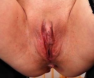 Blonde mature mom reveals sexy lingerie and strips for nipple & pussy closeup
