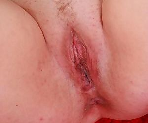 Redhead mature woman is tenderly touching her avid pussy - part 7