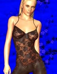 Toon girl in black lingerie - part 4