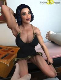 Bodybuilder girl shows off her muscles - part 4