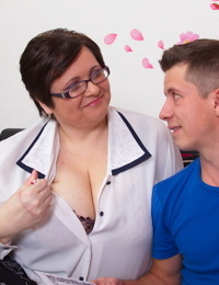 Big breasted mature lady fooling around with her younger lover - part 241