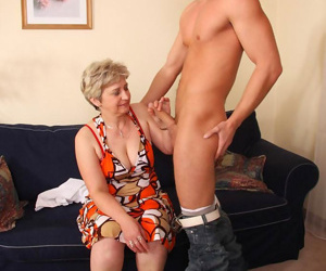 Horny blonde granny craving a young stiff cock - part 4565