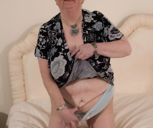 Naughty big breasted british granny getting frisky - part 3523