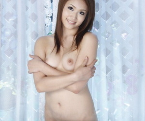 Naked Asian doll Iori Mizuki comes to life in order to flaunt her tight ass