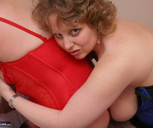 Mature fatty Curvy Claire has a threesome with an older couple