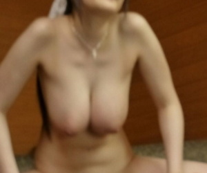 Busty Japanese housemaid Rie Tachikawa fucked into wet hairy hole