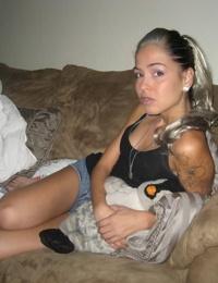 Drunk girlfriend posing naked for her boyfriend - part 4316