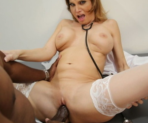 Slutty MILF nurse Sky Rodgers gets the wrinkles out of BBC in doctors office