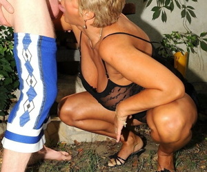 Mature Astrid get her pussy filled with a hard prick & does an intense titjob