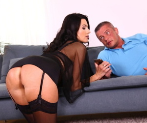 Hot cougar Ania Kinski gets banged by her toy boys large penis