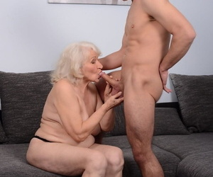 Norma receives oral treatment from horny stud and gets her mature cunt fucked