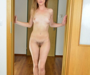 Skinny mature dame Mischelle exhibits her wide open twat and gaping anus