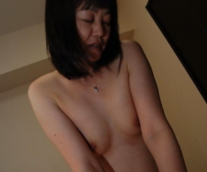 Slutty asian MILF gets her shaggy pussy cocked up and creampied