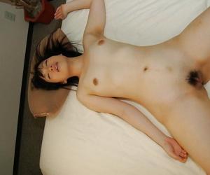 Chiharu Moriya gives a sensual blowjob and gets her hairy twat drilled tough