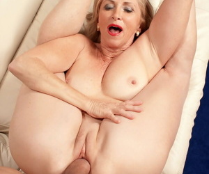 Connie McCoy works young cock in the pussy while screaming like a whire