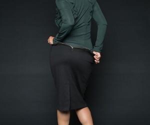 Asian office worker Dana Vespoli strips off business clothes for easier money