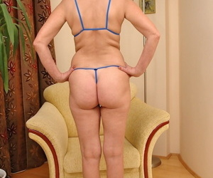 Mature blonde amateur Bibi Taylor gets rammed and toyed by a young man