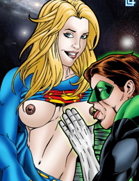Green Lantern and Supergirl have a cosmic fuck