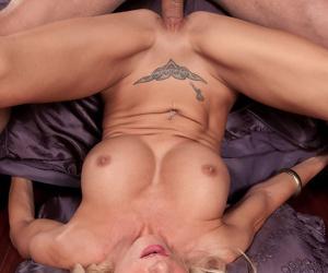 Big boobed mature broad Brooke Tyler satisfies her interracial sex fantasy