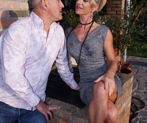 Classy older lady craves some afternoon delight with her partner