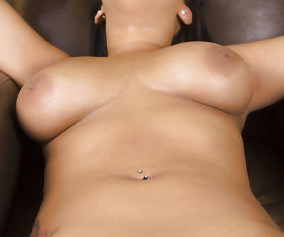Horny Latina Briana Lee in heels on her knees sucking huge cock POV