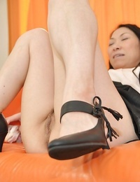 Naughty asian Mummy Yumiko Morisaki gets her g-spot sated with sex toys