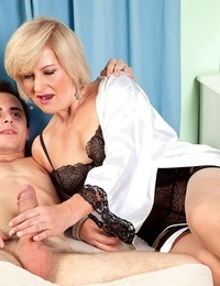 Junior white boy is seduced by nasty grandmother on the go Ellie Anderson