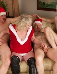 Drunken milf claire knight group-fucked on christmas party - part 892